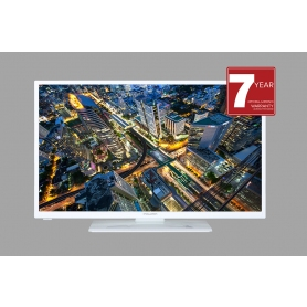 "Mitchell & Brown 32"" HD LED TV in white"