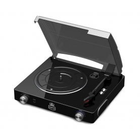 GPO Stylo II Vinyl Stereo Record Player - Black